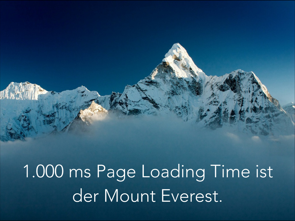 1.000 ms Page Loading Time ist der Mount Everes...