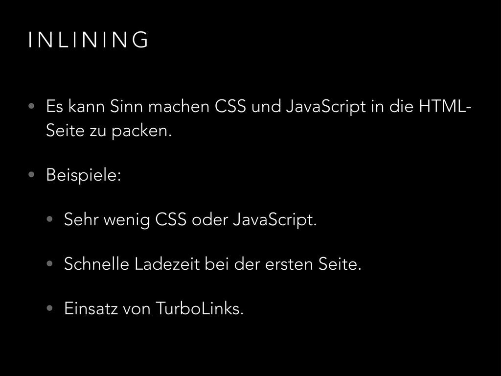 I N L I N I N G • Es kann Sinn machen CSS und J...