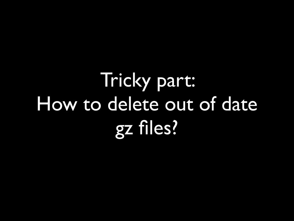 Tricky part: 	 