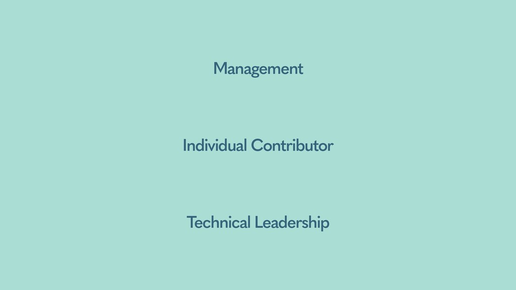 Management Individual Contributor Technical Lea...