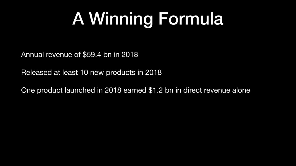 A Winning Formula Annual revenue of $59.4 bn in...
