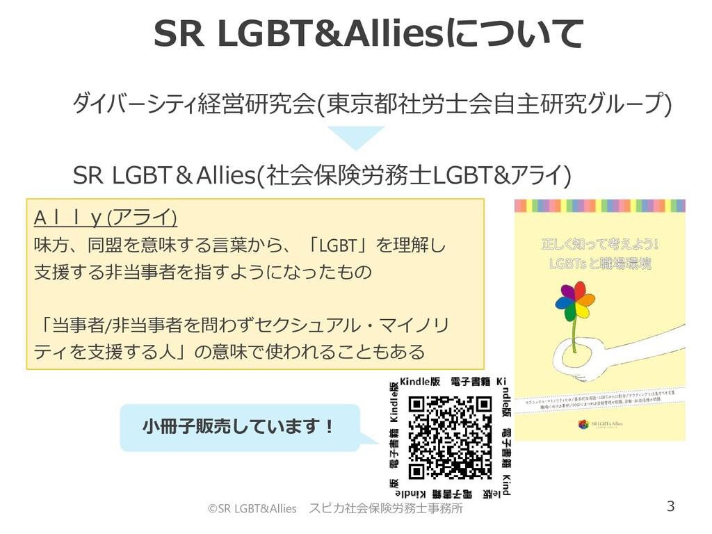 3 SR LGBT&Alliesについて ©SR LGBT&Allies スピカ社会保険労務士...