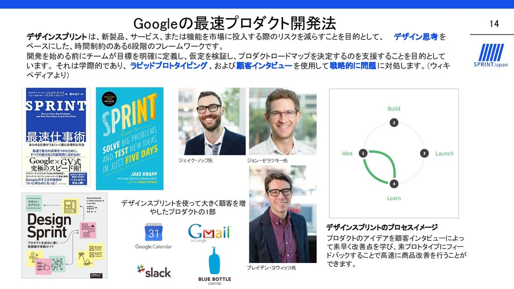 Googleの最速プロダクト開発法 14 デザインスプリント は、新製品、サービス、または...