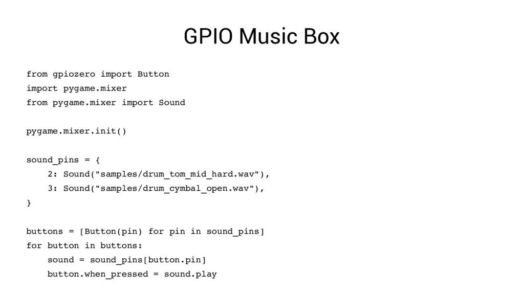 GPIO Music Box from gpiozero import Button impo...
