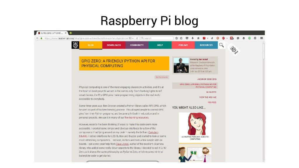 Raspberry Pi blog