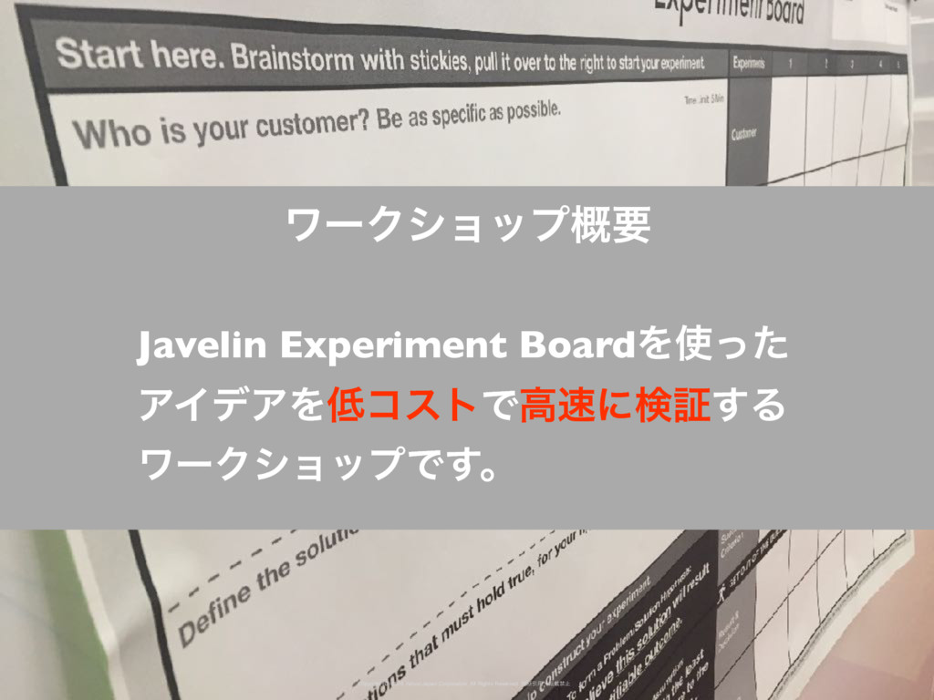 Javelin Experiment BoardΛ࢖ͬͨ ΞΠσΞΛ௿ίετͰߴ଎ʹݕূ͢Δ ...