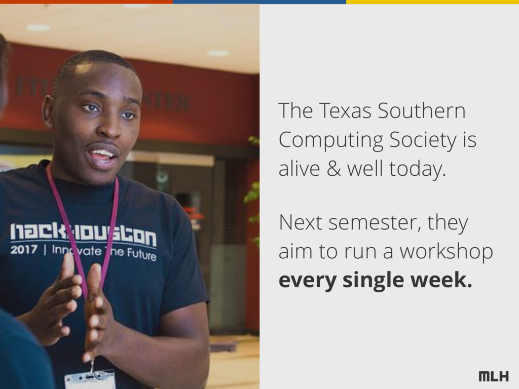 The Texas Southern Computing Society is alive &...
