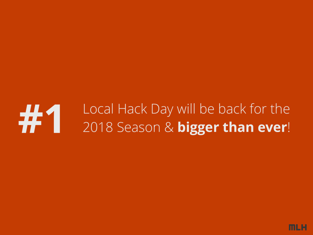 Local Hack Day will be back for the 2018 Season...