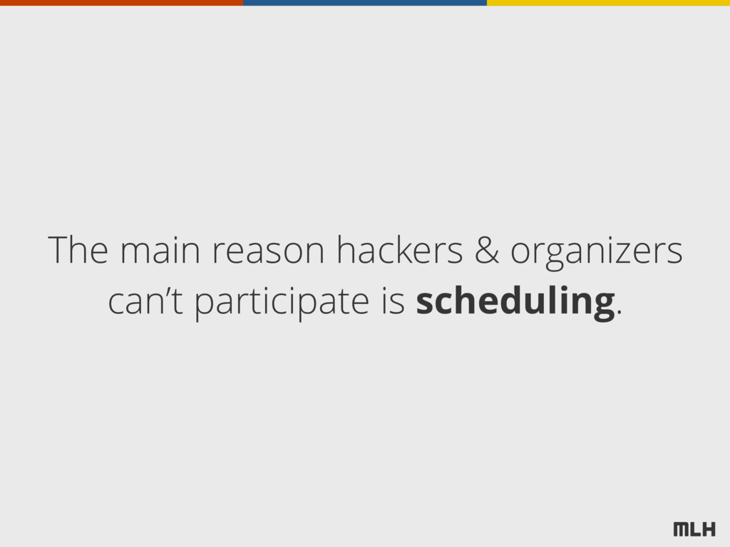 The main reason hackers & organizers can't part...