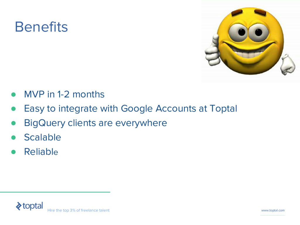 Hire the top 3% of freelance talent www.toptal....