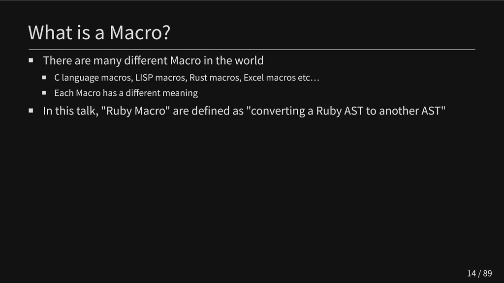 What is a Macro? There are many different Macro...