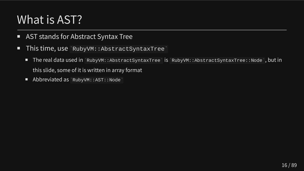 What is AST? AST stands for Abstract Syntax Tre...