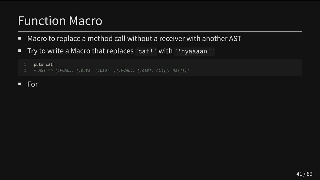 Function Macro Macro to replace a method call w...