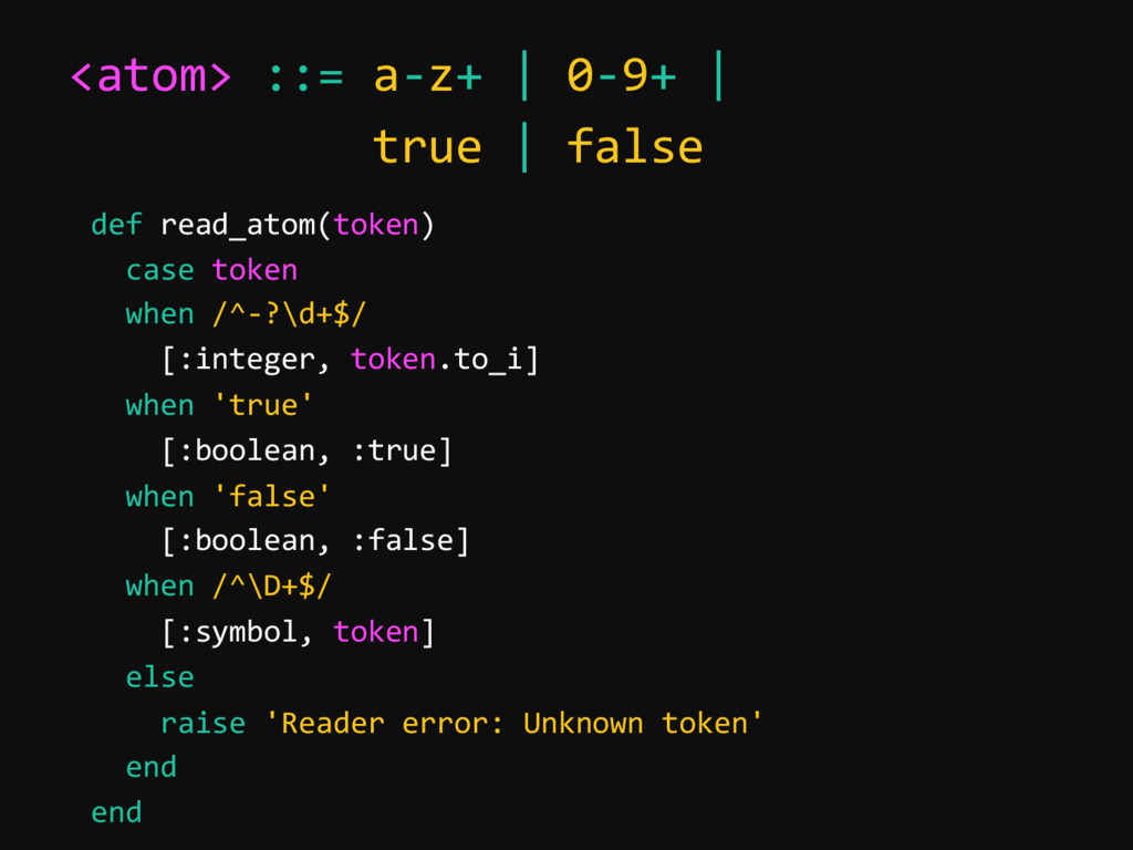 <atom> ::= a-z+ | 0-9+ | true | false def read_...