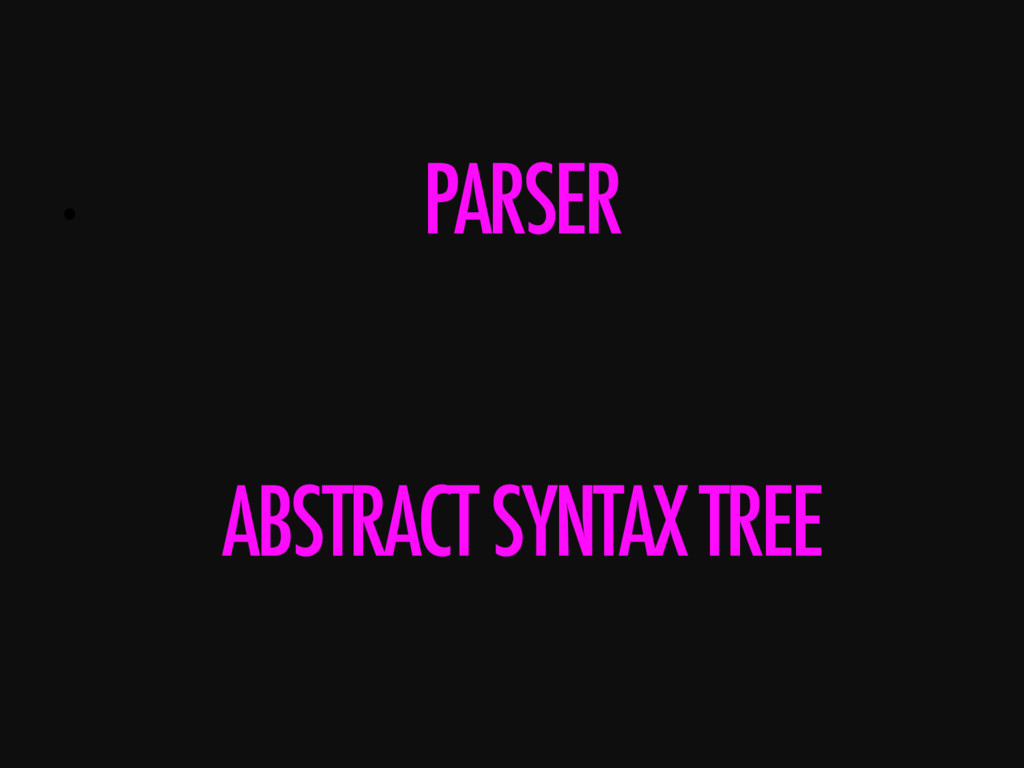 •  ABSTRACT SYNTAX TREE