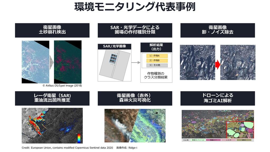 AIがごみの種別分布を識別 環境モニタリング代表事例 ドローンによる 海ゴミAI解析 レーダ衛...
