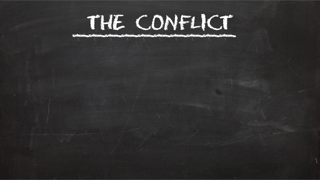The conflict __________