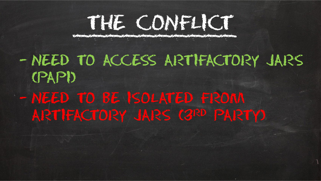 The conflict – Need to access Artifactory jars ...
