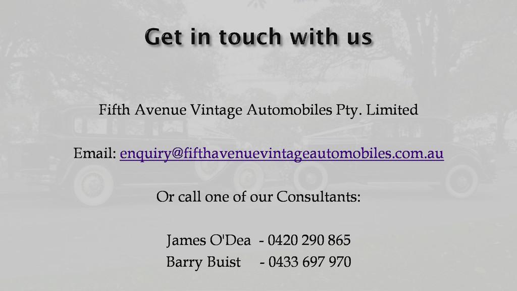 Fifth Avenue Vintage Automobiles Pty. Limited E...