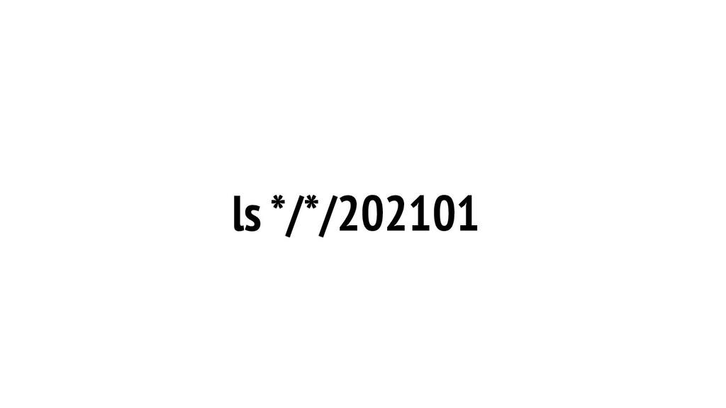 ls */*/202101