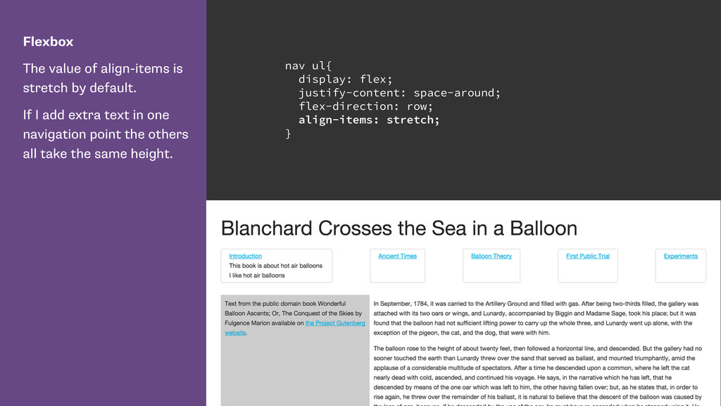 Flexbox The value of align-items is stretch by ...