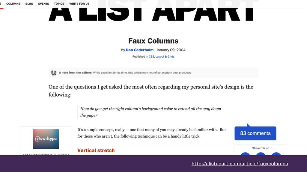 http://alistapart.com/article/fauxcolumns