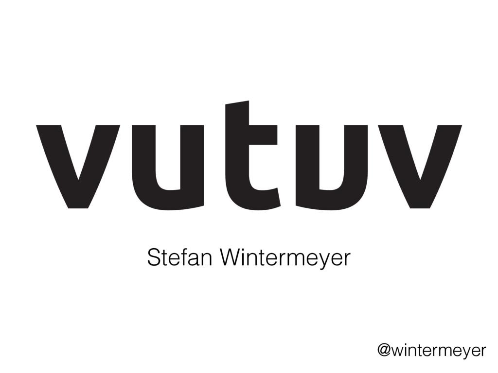 Stefan Wintermeyer @wintermeyer