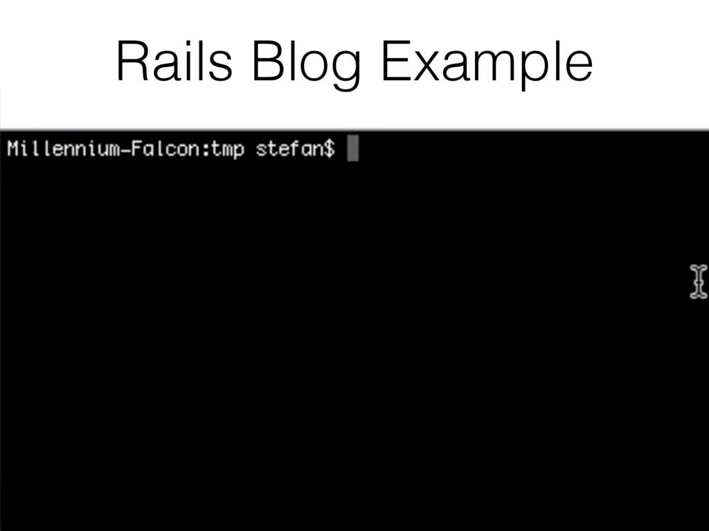Rails Blog Example