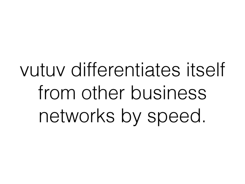 vutuv differentiates itself from other business...