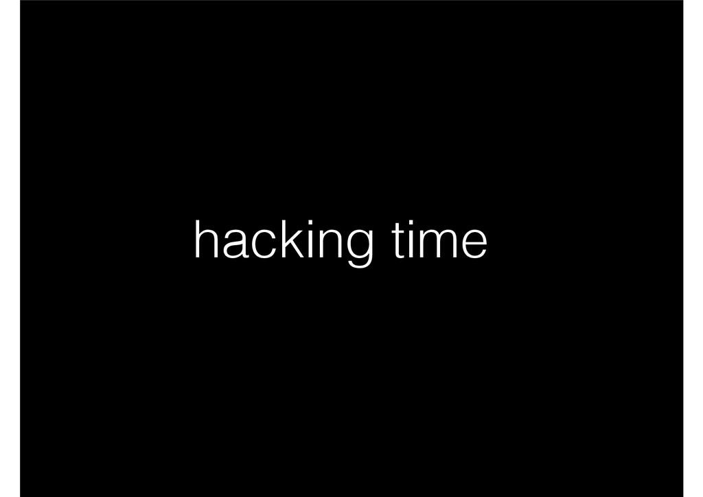 hacking time