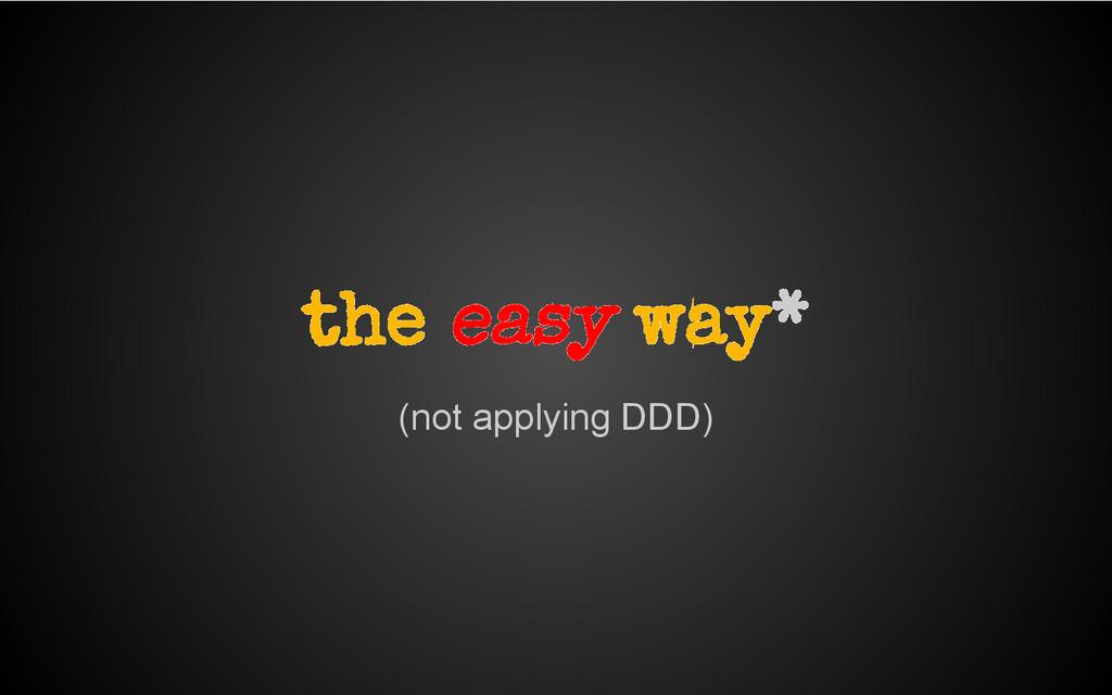 (not applying DDD) the easy way*