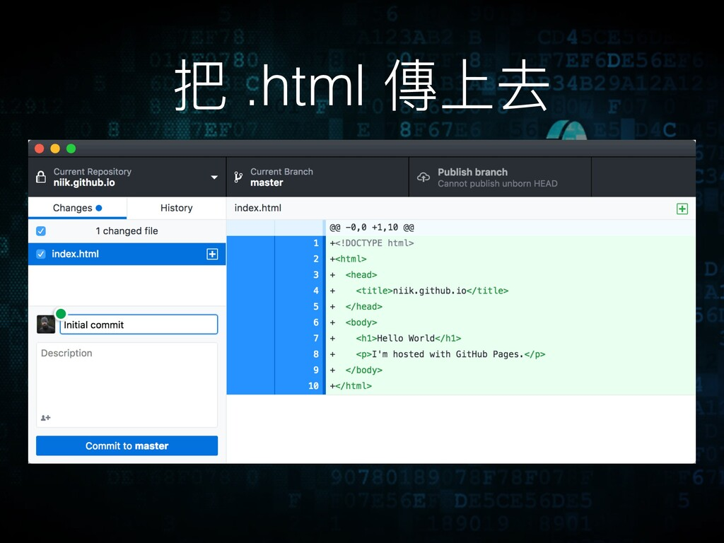 把 .html 傳上去