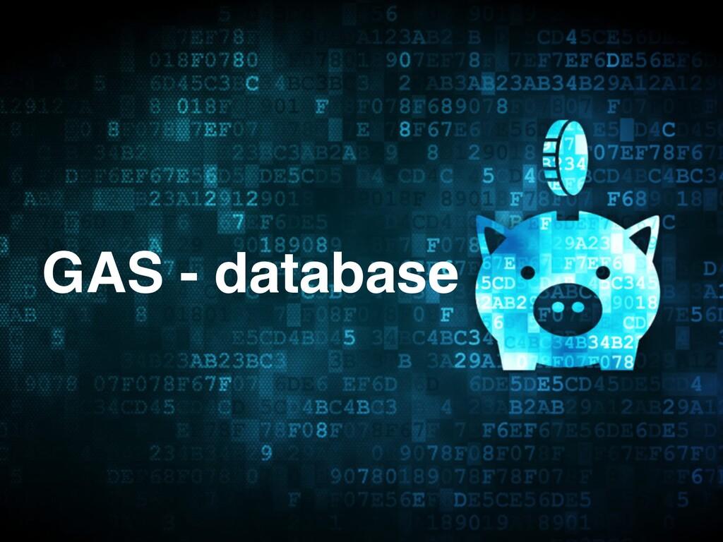 GAS - database
