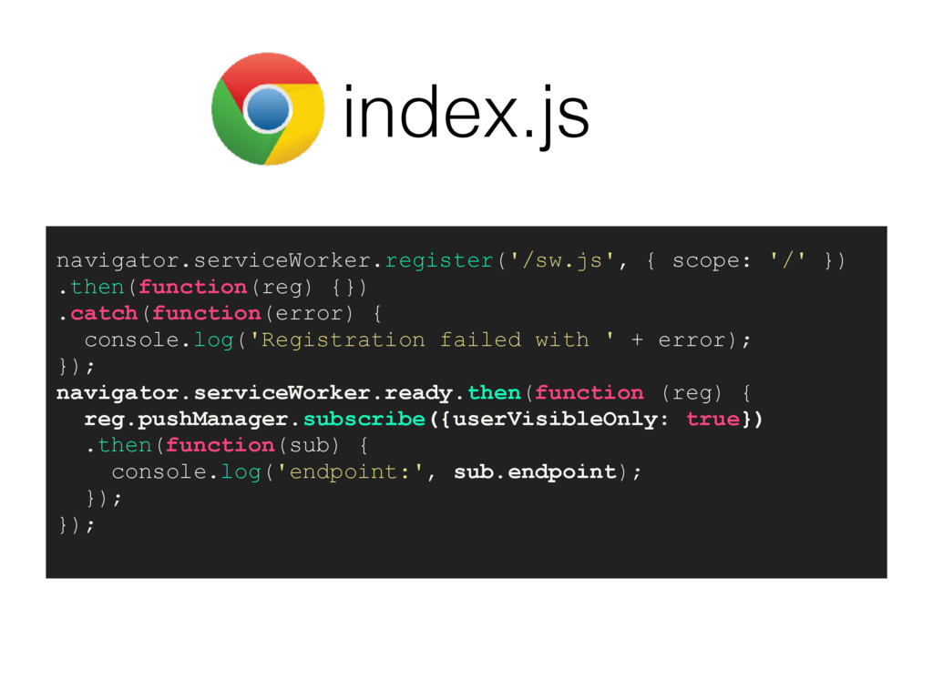 index.js navigator.serviceWorker.register('/sw....