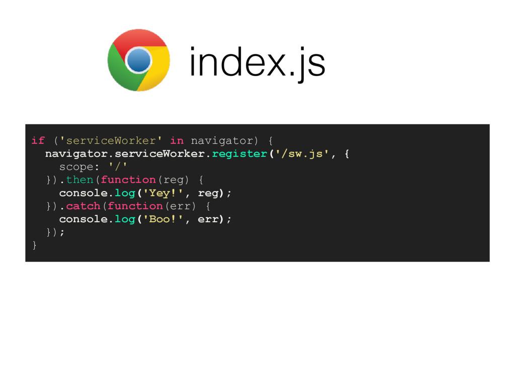 index.js if ('serviceWorker' in navigator) { na...