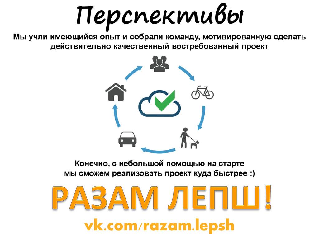 vk.com/razam.lepsh Перспективы Мы учли имеющийс...
