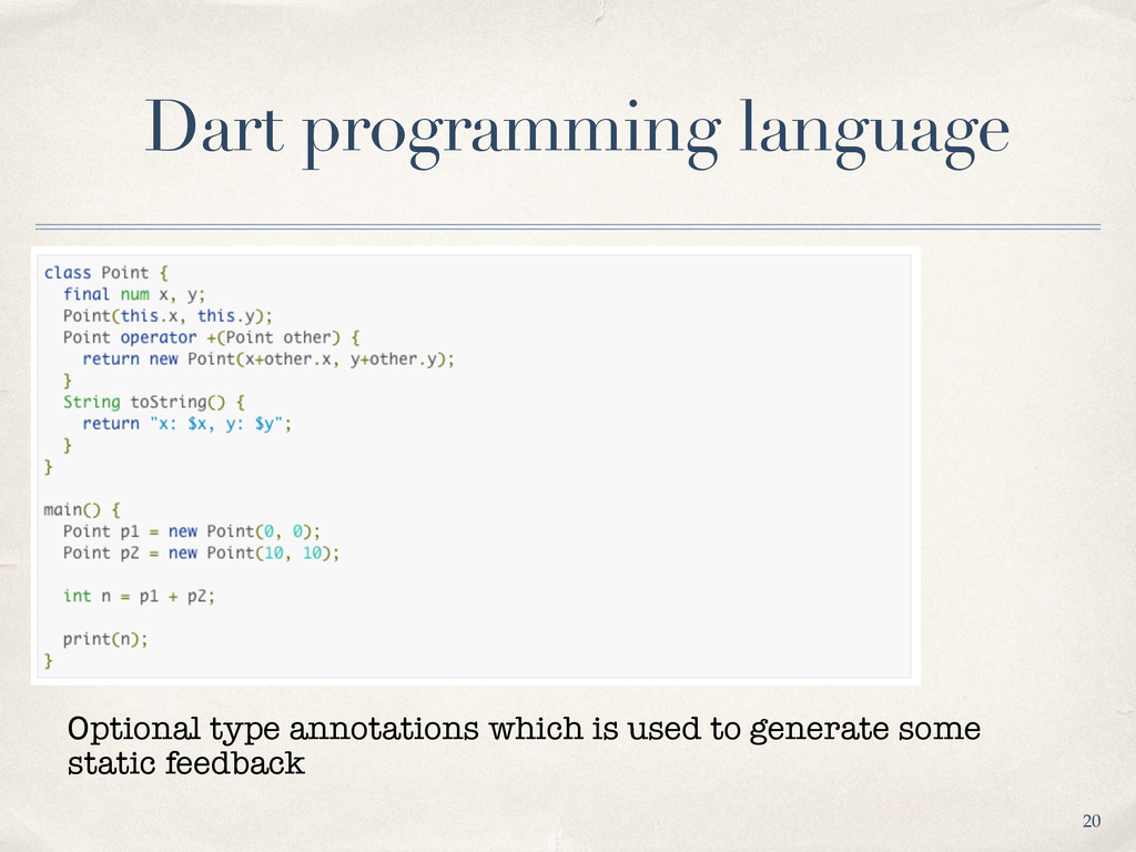 Dart programming language 20 Optional type anno...