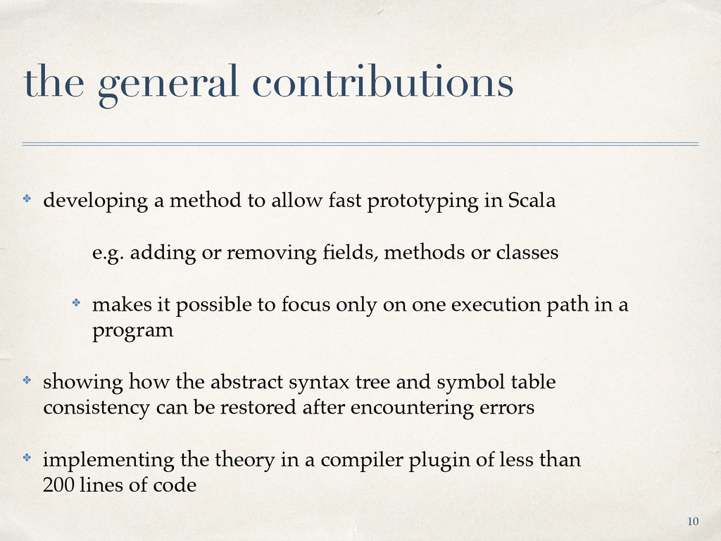 the general contributions ✤ developing a method...