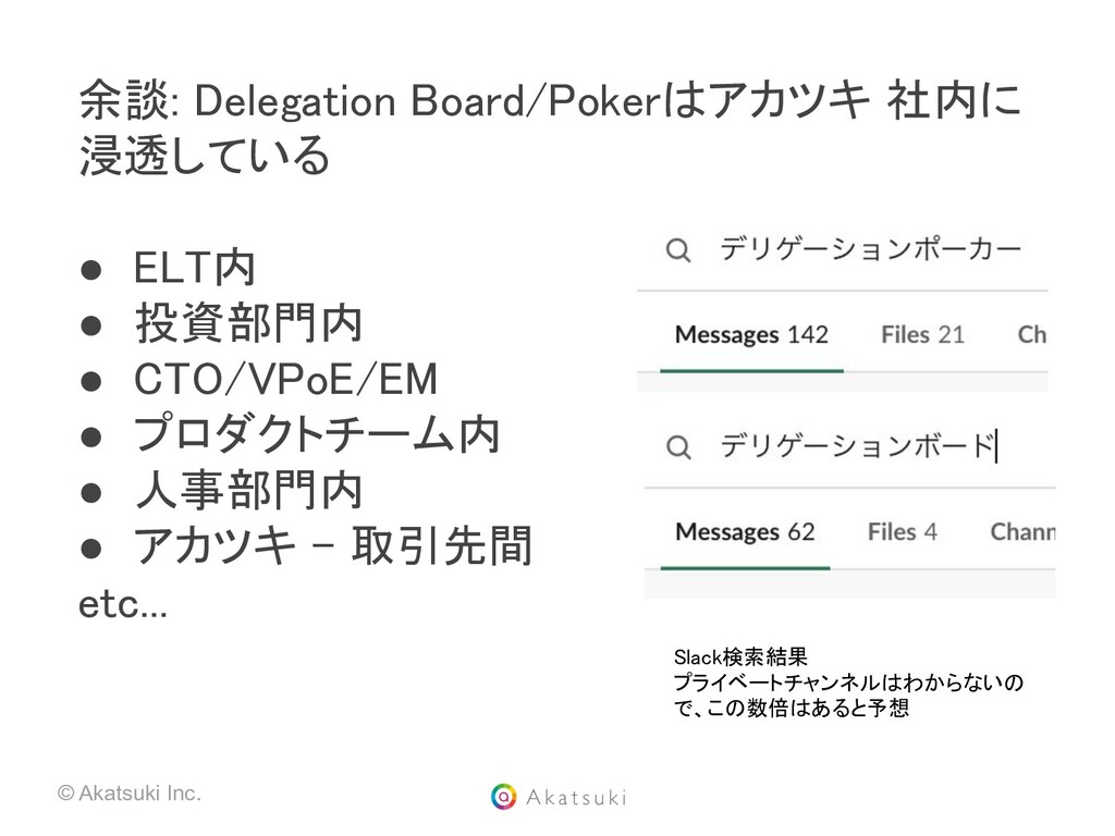 © Akatsuki Inc. 余談: Delegation Board/Pokerはアカツキ...