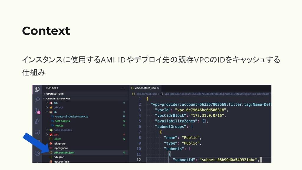 インスタンスに使用するAMI IDやデプロイ先の既存VPCのIDをキャッシュする 仕組み Co...
