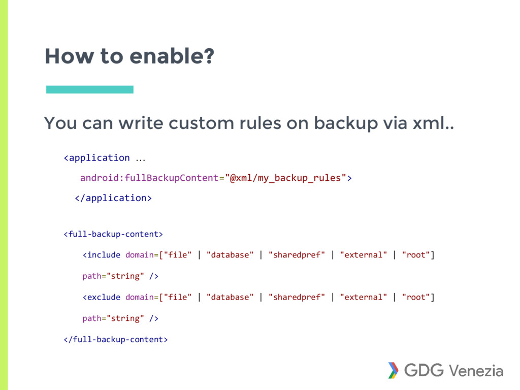 How to enable? You can write custom rules on ba...