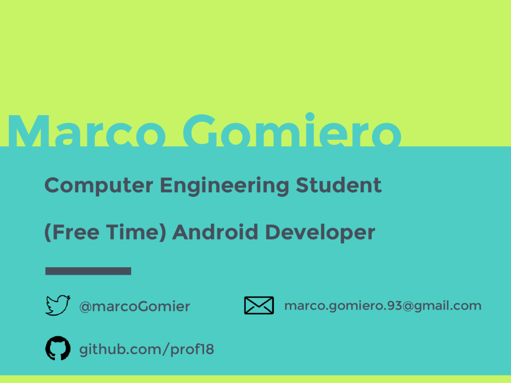 Marco Gomiero Computer Engineering Student @mar...
