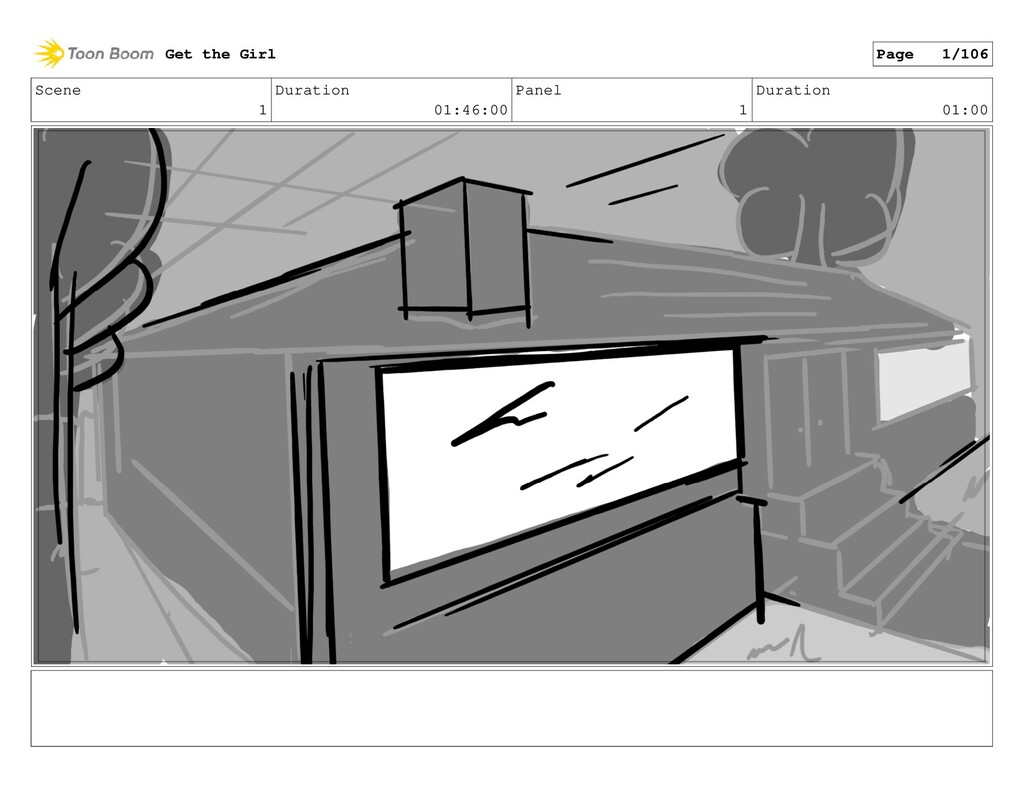 Scene 1 Duration 01:46:00 Panel 1 Duration 01:0...