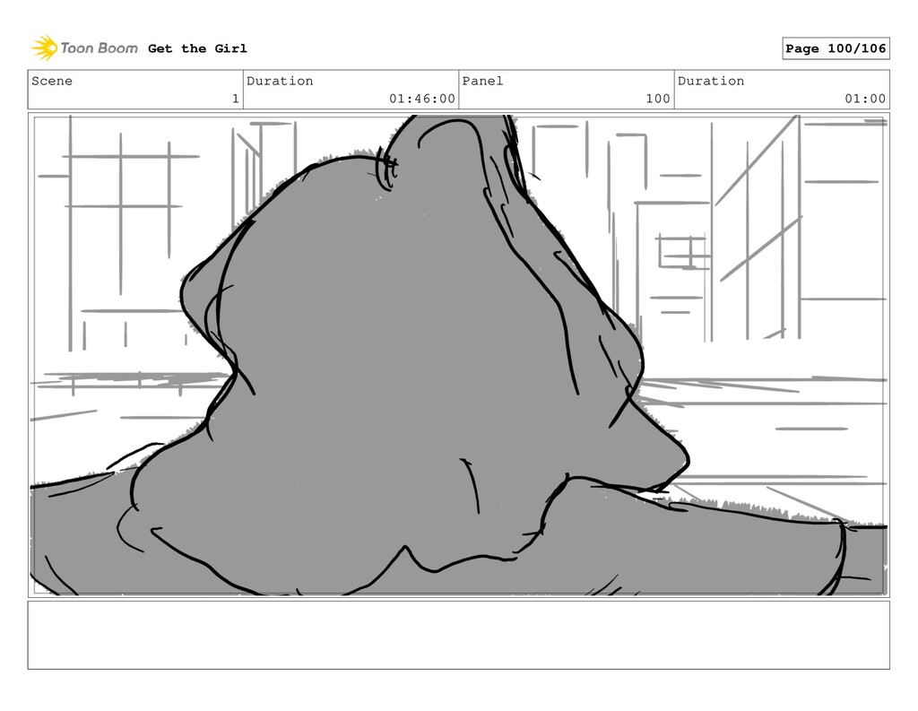 Scene 1 Duration 01:46:00 Panel 100 Duration 01...