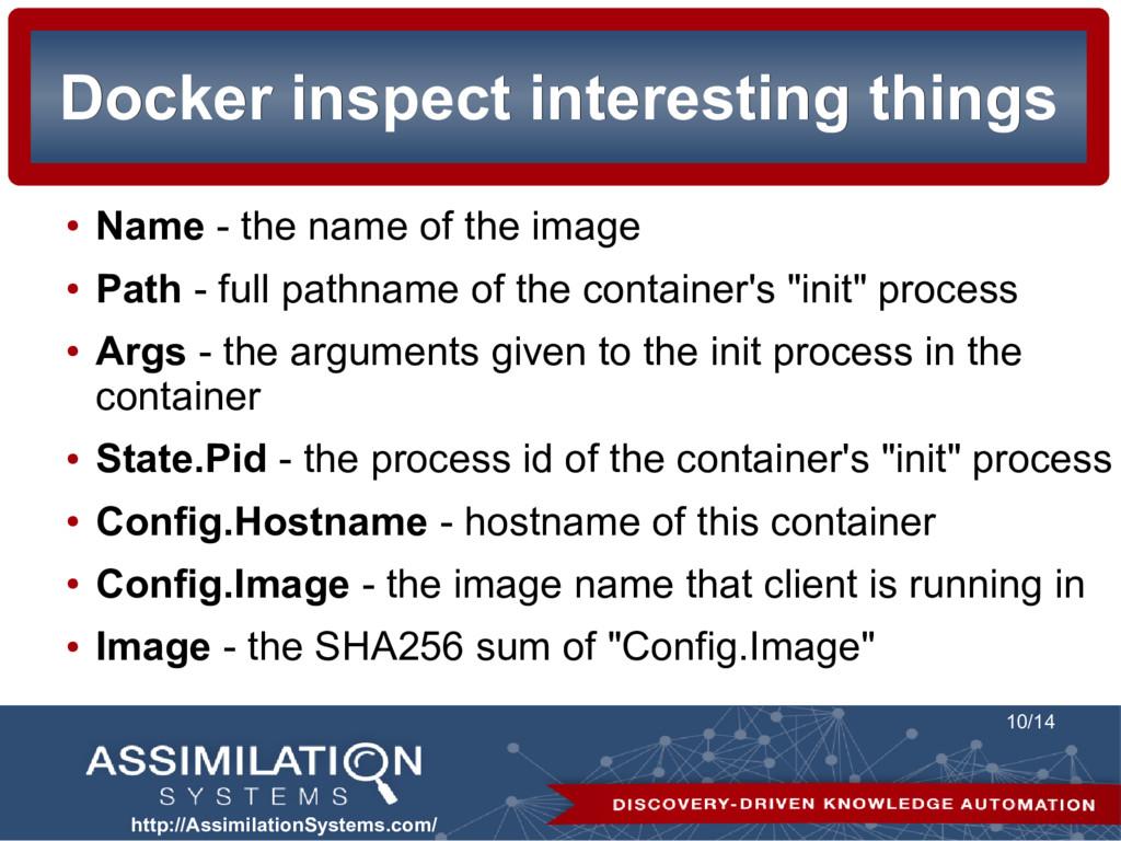 http://AssimilationSystems.com/ 10/14 Docker in...