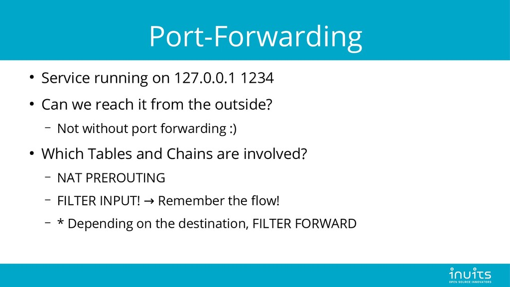Port-Forwarding ● Service running on 127.0.0.1 ...