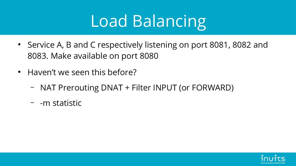 Load Balancing ● Service A, B and C respectivel...