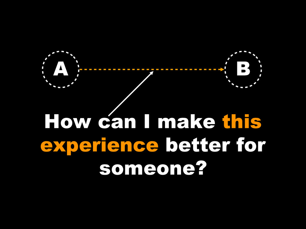 How can I make this experience better for someo...