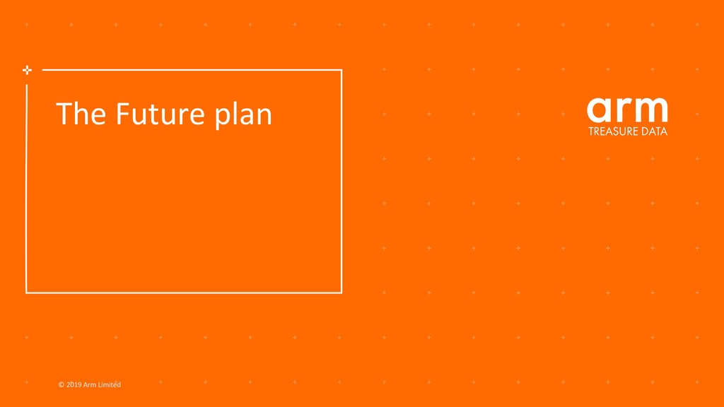 © 2019 Arm Limited The Future plan
