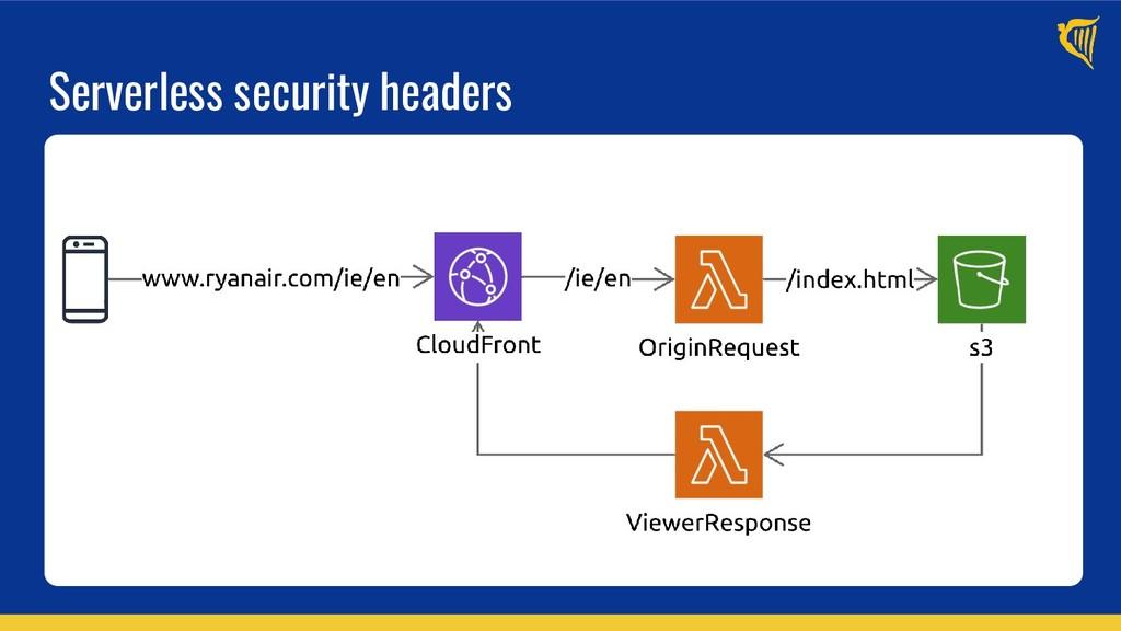 Serverless security headers